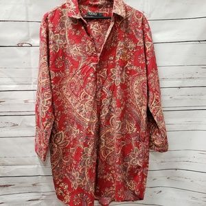 Ralph Lauren polo cranberry night gown xlarge